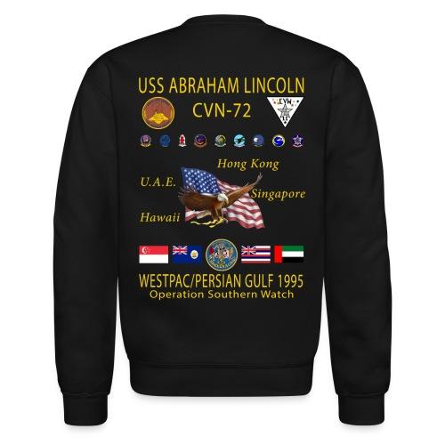 USS ABRAHAM LINCOLN (CVN-72) 1995 WESTPAC CRUISE SWEATSHIRT - Crewneck Sweatshirt