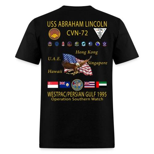 USS ABRAHAM LINCOLN (CVN-72) 1995 WESTPAC CRUISE SHIRT - Men's T-Shirt