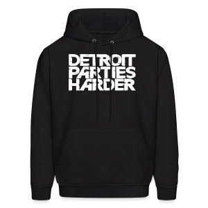 DETROIT PARTIES HARDER - Men's Hoodie