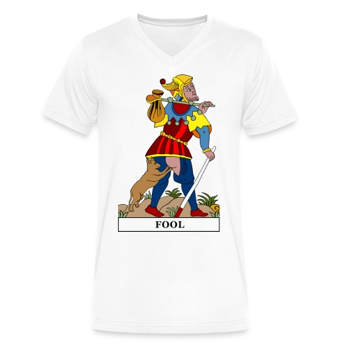 Fool - White V-neck - Men's V-Neck T-Shirt by Canvas