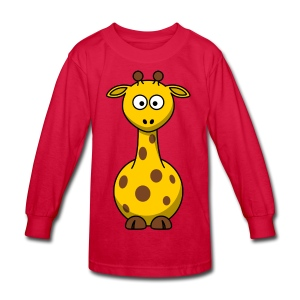 giraffe riddle shirt - Kids' Long Sleeve T-Shirt