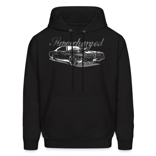 Dodge Charger Supercharged HEMI Mens T-Shirt | Fruit of the Loom - Men's Hoodie