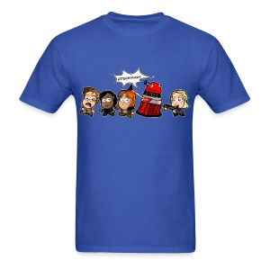 Chibi Doctor Who - Journey's End Cartoon T-Shirt (Male) - Men's T-Shirt