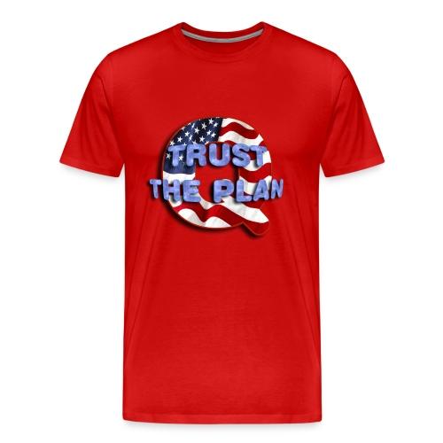 Q TRUST THE PLAN - Men's Premium T-Shirt