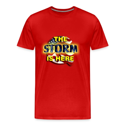 Q THE STORM IS HERE - Men's Premium T-Shirt
