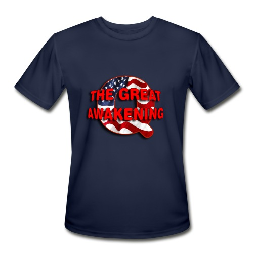 Q THE GREAT AWAKENING - Men's Moisture Wicking Performance T-Shirt