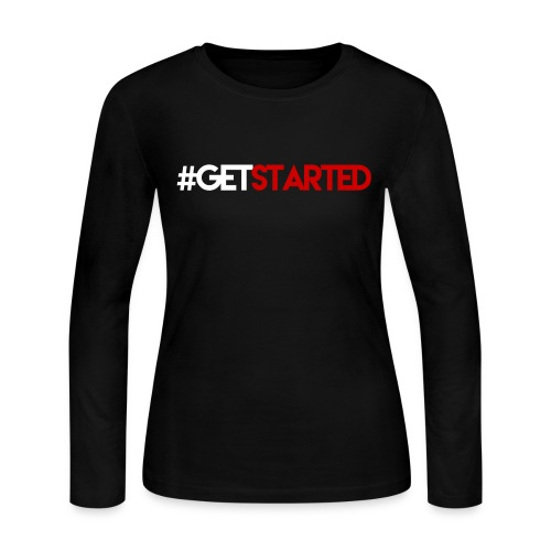 #GETSTARTED Long Sleeved Tee (Women) - Women's Long Sleeve Jersey T-Shirt