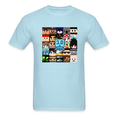 Men's T - Freebuilders Faces Square - Men's T-Shirt