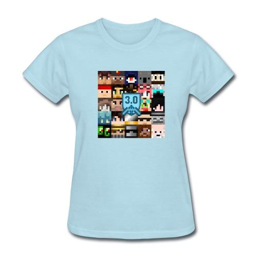 Women's T - Freebuilders Faces Square - Women's T-Shirt