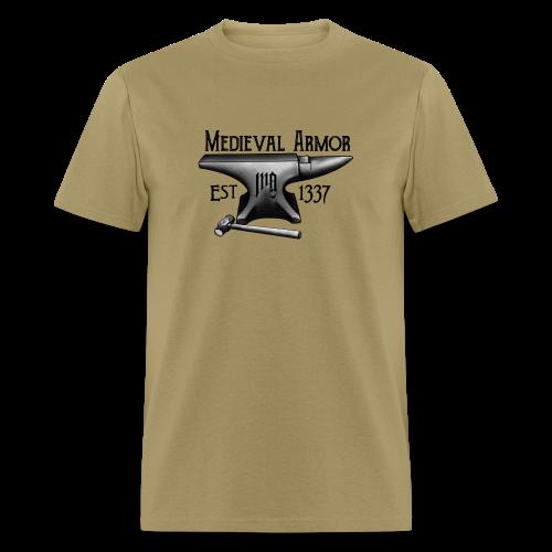 Medieval Armor Anvil T-Shirt - Men's T-Shirt
