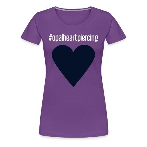 Opal Heart (womens premium black glitz) - Women's Premium T-Shirt