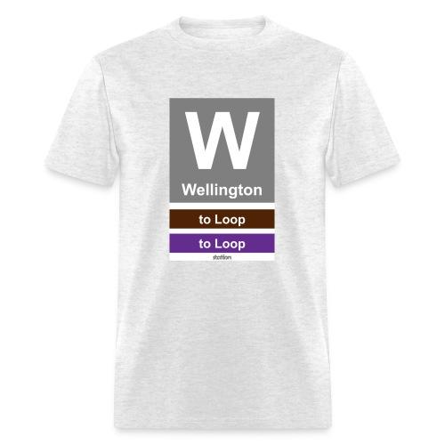 CTA Brown Line - Men's T-Shirt - Men's T-Shirt
