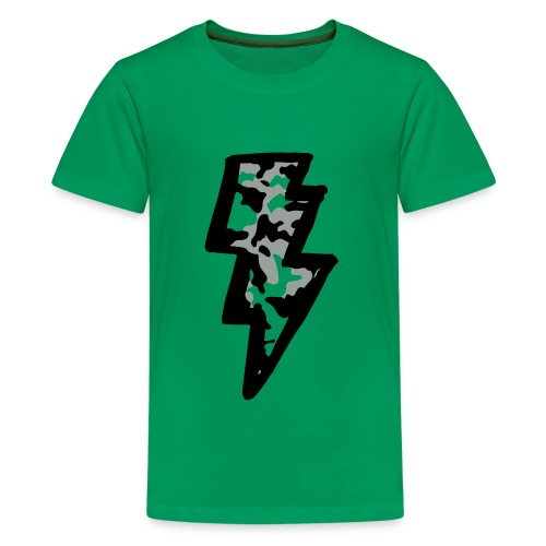 Camo Bolt - Kids' Premium T-Shirt
