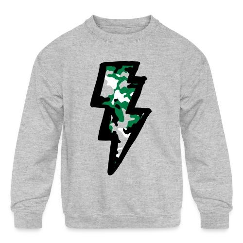 Camo Bolt Sweatshirt - Kids' Crewneck Sweatshirt