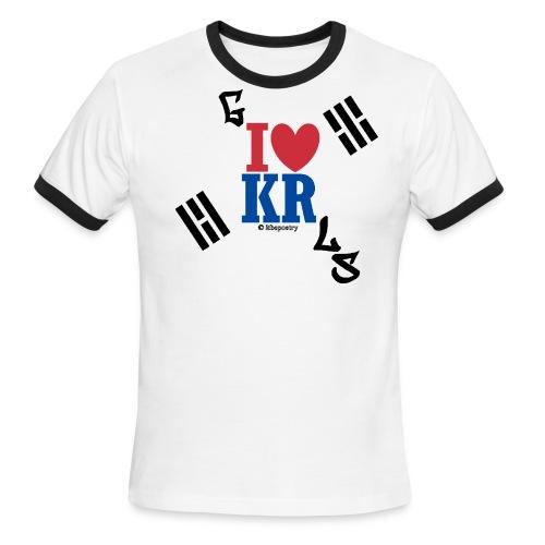 Korea Ringer (Less Serif) - Men's Ringer T-Shirt