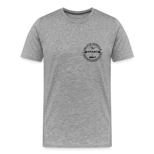 GNARC T SHIRT black original morse logo FRONT - Men's Premium T-Shirt