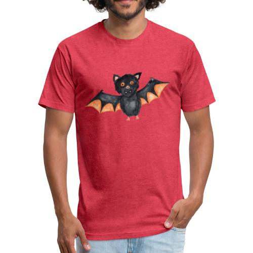 Bat - Fitted Cotton/Poly T-Shirt by Next Level