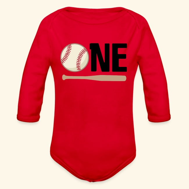 1st Birthday Baseball Tshirt For Baby