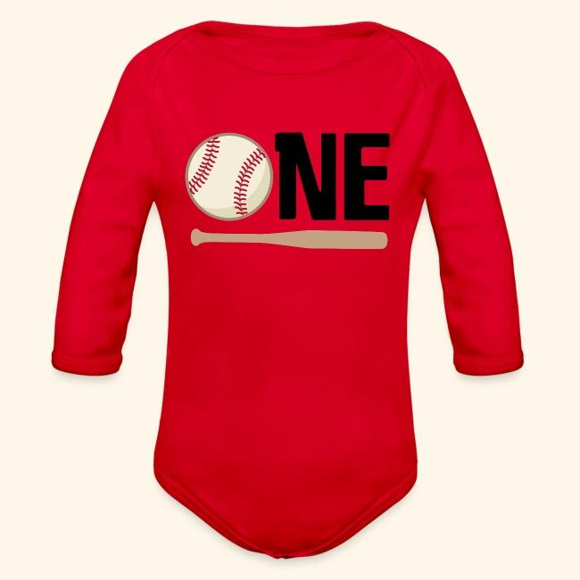 1st Birthday Baseball Tshirt For Baby