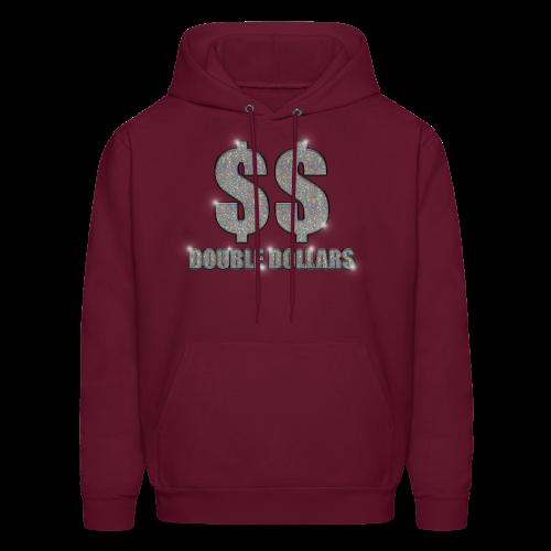 BURGUNDY $$ BLING HOODIE - Men's Hoodie