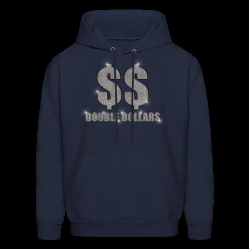 NAVY $$ BLING HOODIE - Men's Hoodie