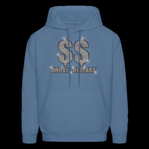 LIGHT BLUE $$ BLING HOODIE - Men's Hoodie