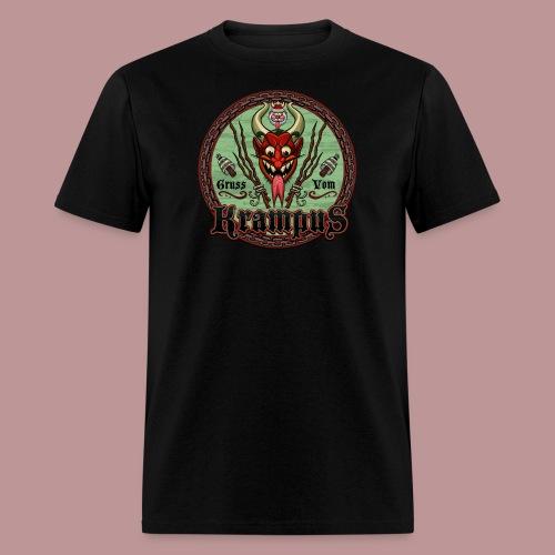 Krampus Greetings Seal T-Shirt Black - Men's T-Shirt