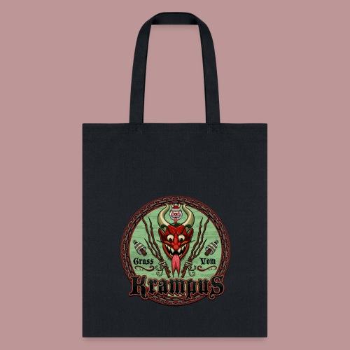 Krampus Greetings Tote Bag Black - Tote Bag