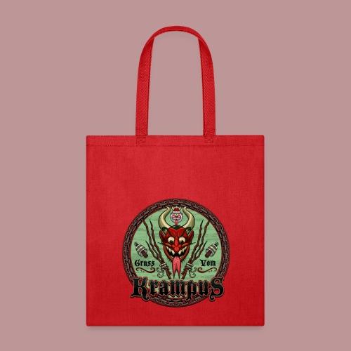 Krampus Greetings Red Tote Bag - Tote Bag