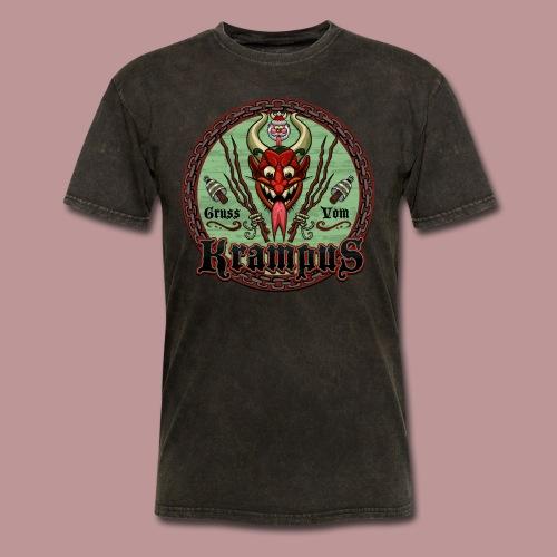 Krampus Greetings Men's T-shirt Mineral Black - Men's T-Shirt