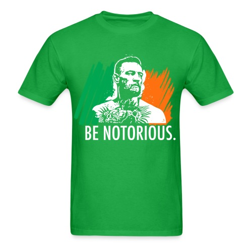 Be Notorious (Front) Fight Club (Back) - Men's T-Shirt