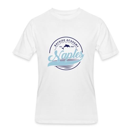 Mens White Tee - Script - Men's 50/50 T-Shirt