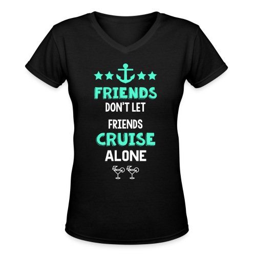 Women's Friends V-neck T-Shirt - Women's V-Neck T-Shirt