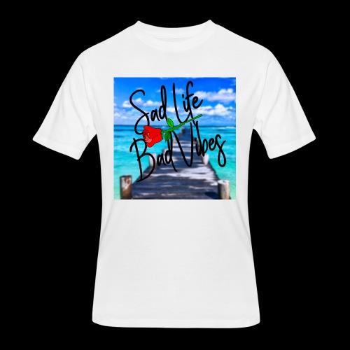 Sad Life, Bad Vibes Beach T-Shirt - Men's 50/50 T-Shirt