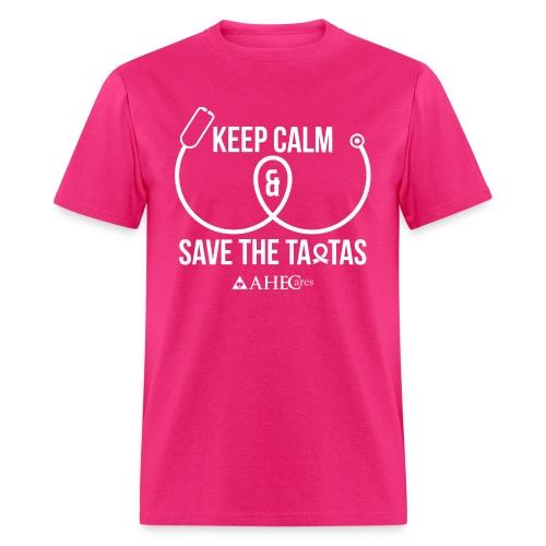 Keep Calm & Save the Ta-tas - Men's T-Shirt