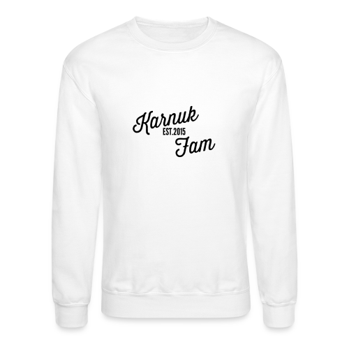 White EST.2015 KarnukFam Sweatshirt - Crewneck Sweatshirt