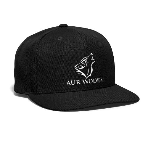 Snap-back Baseball Cap with AUR Wolves Sports Team Logo - Snap-back Baseball Cap