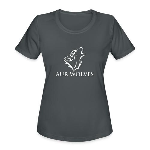 Women's Sports Shirt with AUR Wolves Sports Team Logo - Women's Moisture Wicking Performance T-Shirt