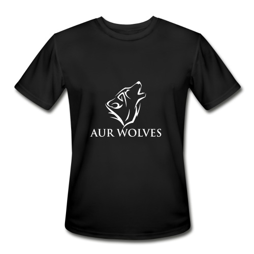 Men's Sports Shirt with AUR Wolves Sports Team Logo - Men's Moisture Wicking Performance T-Shirt
