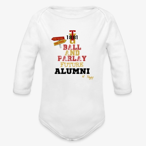 Ball & Parly Future Long Sleeve Onesie - Organic Long Sleeve Baby Bodysuit