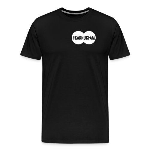 #KarnukFam T-Shirt (White) - Men's Premium T-Shirt