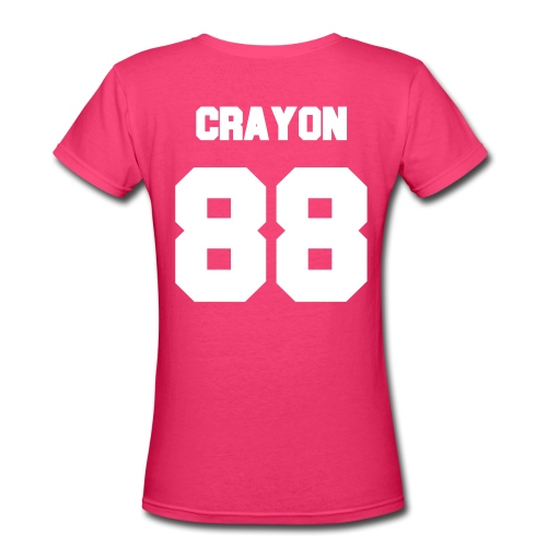 Crayon Jersey-Double Sided - Women's V-Neck T-Shirt