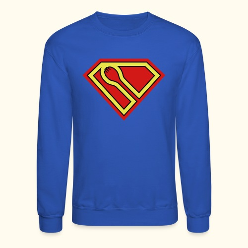 SUPER-spork superhero sweatshirt - Crewneck Sweatshirt