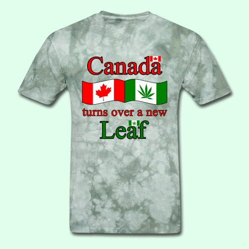 CANADA TURNS OVER NEW LEAF - Men's T-Shirt