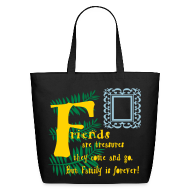 Bags & backpacks ~ Eco-Friendly Cotton Tote ~ Friends are treasures