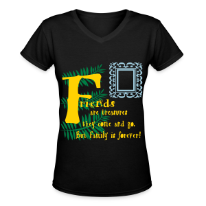 Friends are treasures - Women's V-Neck T-Shirt