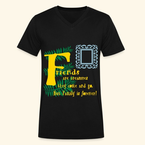 Friends are treasures - Men's V-Neck T-Shirt by Canvas