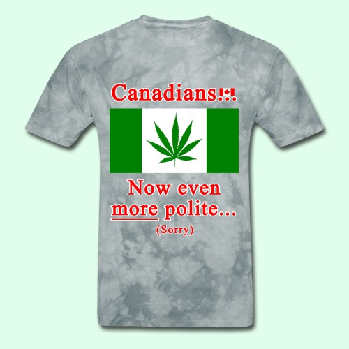 Canadians now even more polite sorry - Men's T-Shirt