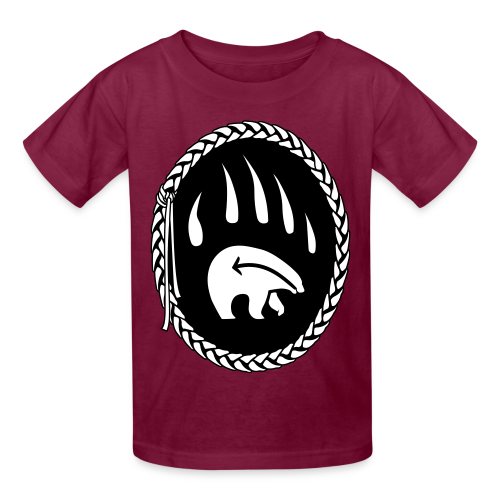 Kid's Tribal T-shirts Bear Claw Art Shirts - Kids' T-Shirt