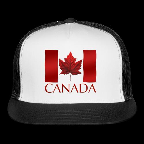Canada Flag Souvenir Caps - Trucker Hat - Trucker Cap